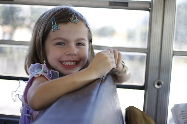 "Ashlynn, 4, was the first one to get picked up on the ""gold route"" last Saturday morning."