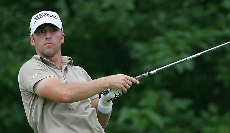 Joe Affrunti watches his drive during the second round of the Chiquita Classic.
