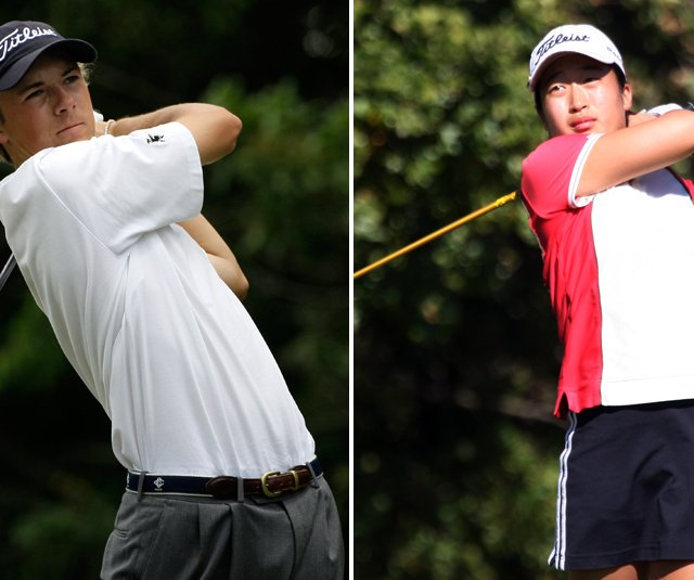 Jordan Spieth and Kyung Kim