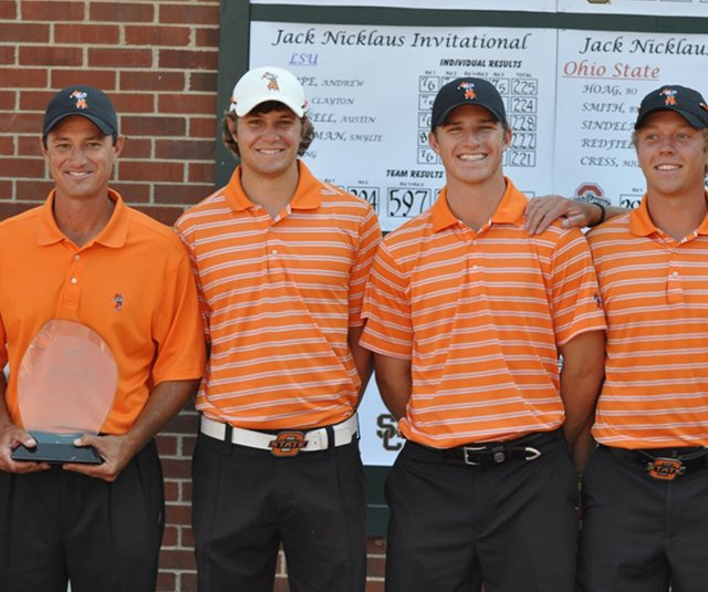 The Oklahoma State Cowboys after winning the Jack Nicklaus Invitational on Oct. 12. 