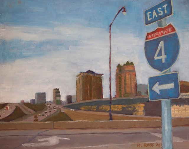 "Emerging artists Sherri Bunye and Robert Ross show their interpretation of the people, pavements, and skyscrapers of Orlando in ""Street Seen,"" a new exhibit at City Arts Factory Oct. 21 - Nov. 12."