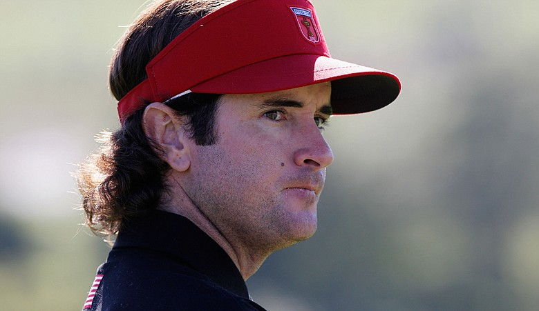 Bubba Watson waits on a green in the singles matches during the 2010 Ryder Cup.
