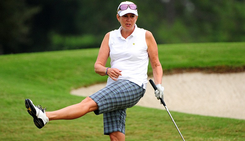 Alexandra Frazier during the title match of the U.S. Senior Women's Amateur Championship.