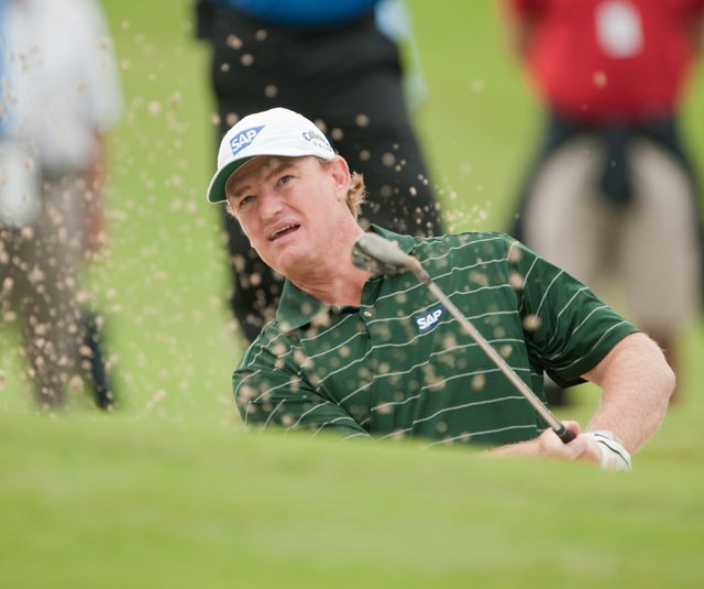 Ernie Els during Round 2 of the PGA Grand Slam of Golf.