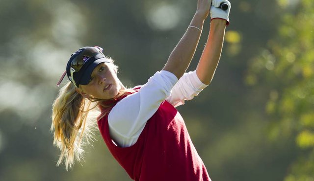 Jessica Korda hits a shot during Day 1 of the Women's World Amateur Team Championship.