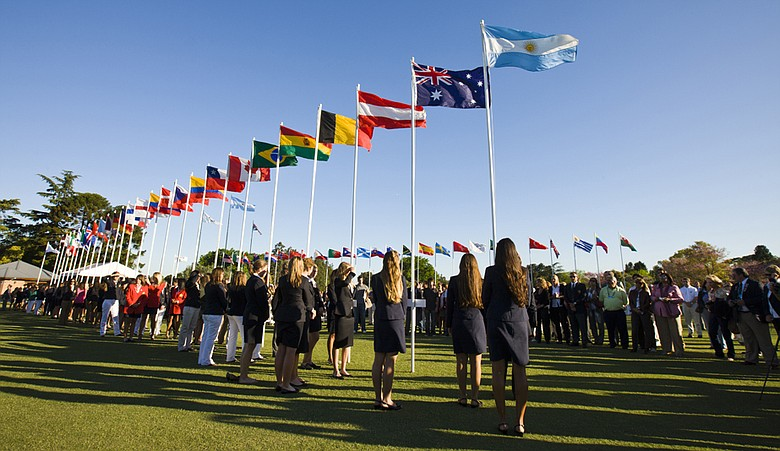The opening ceremonies of the Women's World Amateur Team Championship.