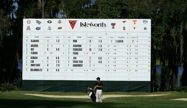 The scoreboard at the 2010 Isleworth Collegiate.