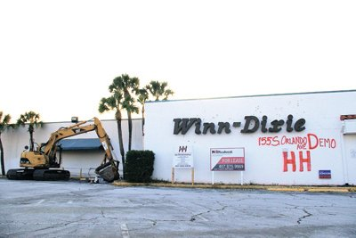 The former Winn-Dixie was supposed to be demolished last year.