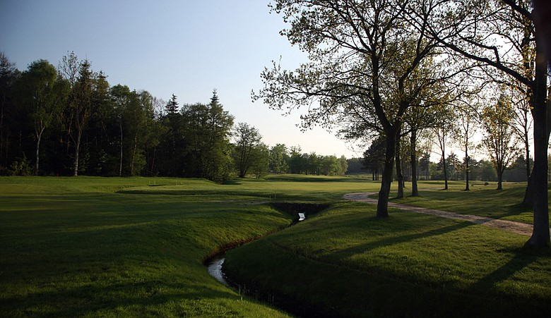 The 314-yard par 4, eighth hole on the Bracken Course at Woodhall Spa in Woodhall Spa, England.