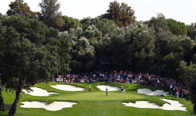 A view of the 6th green during the final round of the 2010 Andalucia Valderrama Masters at Valderrama Golf Club in Sotogrande, Spain.