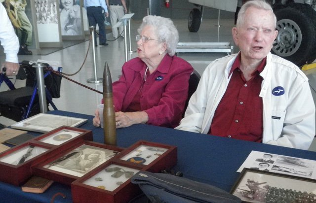 Lt. Col. Ben Griffin and his wife Marian Griffin during Fantasy of Flight's October Living History Symposium.