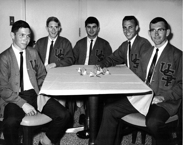 Bill Keegan was part of the first intercollegiate sports team at the University of South Florida, shown here with his track team.