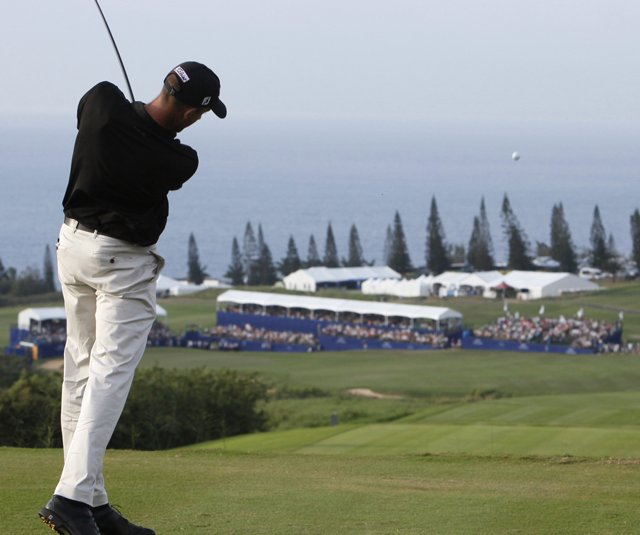 Geoff Ogilvy during the 2010 PGA Tour event at Kapalua.