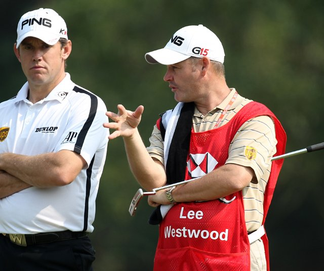 Lee Westwood during Round 1 of the HSBC Champions.