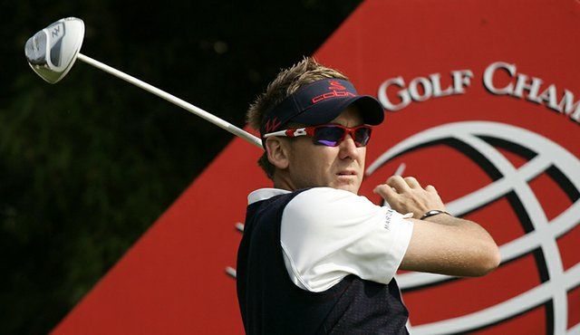 Ian Poulter during the second round of the HSBC Champions in Shanghai.