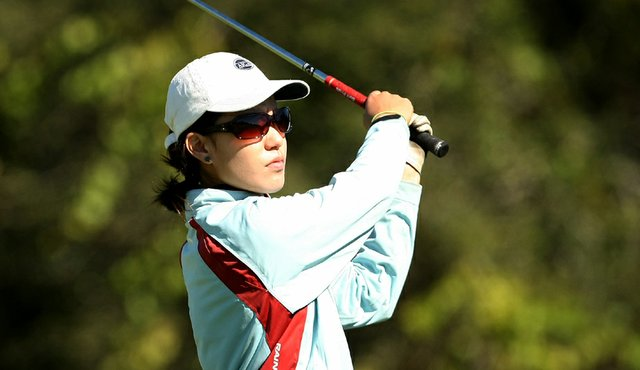 Aurora Kan during the first round of the Golfweek Junior Invitational.