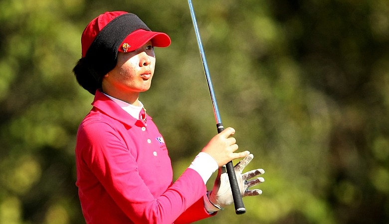 Doris Chen during the first round of the Golfweek Junior Invitational.
