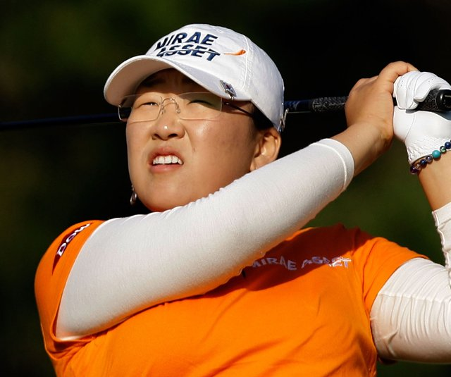 Jiyai Shin during the second round of the Mizuno Classic.