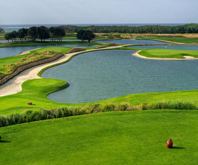 View of the Black Pearl course at Pristine Bay resort