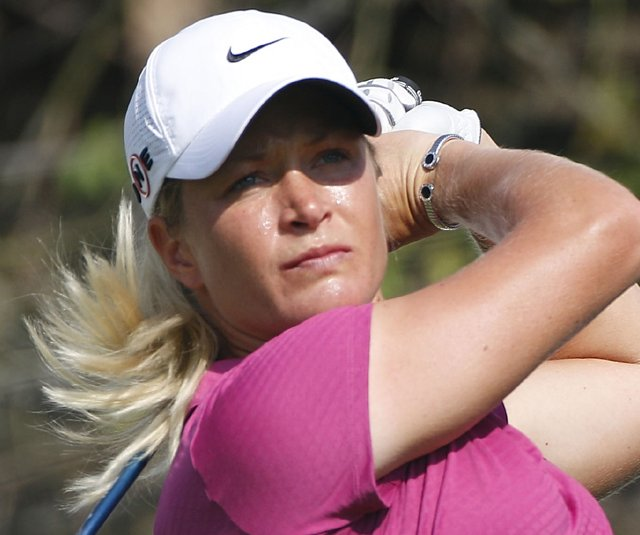 Suzann Pettersen during the first round of the Lorena Ochoa Invitational.