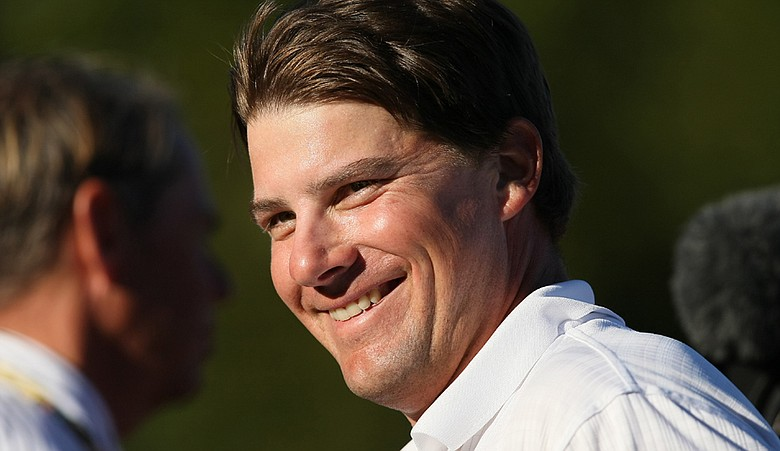 Roland Thatcher is all smiles after realizing he placed solo second and retained his PGA Tour card.