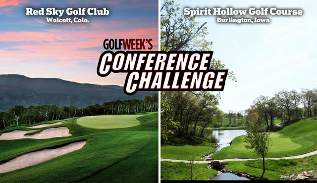 Red Sky Golf Club, left, and Spirit Hollow Golf Course will play host to the 2011 Golfweek Conference Challenges.