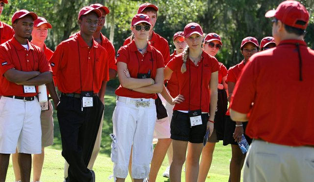 Students of the First Tee program during the Children's Miracle Foundation Classic at Disney.