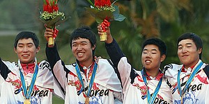Koreans repeat gold-medal sweep at Asian Games