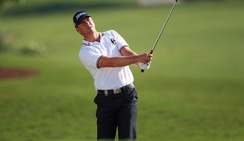 Robert Karlsson during Round 1 of the Dubai World Championship.