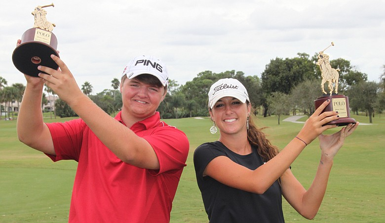Cody Proveaux and Jaye Marie Green after winning the AJGA Polo Classic.