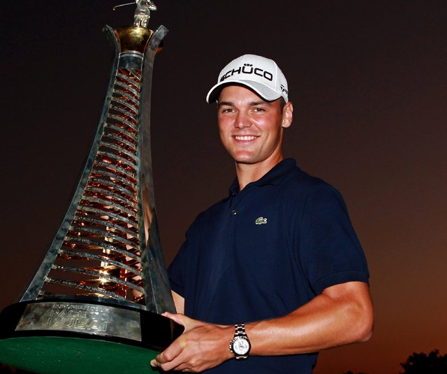 Martin Kaymer after winning the 2010 Race to Dubai. Kaymer won four times in 2010 including the PGA Championship. How high will his stock climb in 2011?