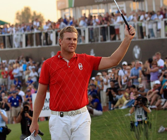 Robert Karlsson after winning the Dubai World Championship. 