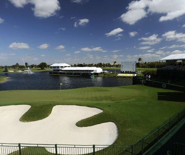 The 18th hole at Doral Golf Resort & Spa