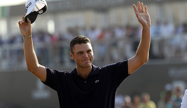 Martin Kaymer after winning the 2010 Race to Dubai.