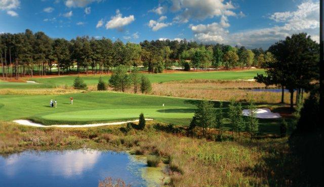 The 15th hole at Pinehurst No. 8.