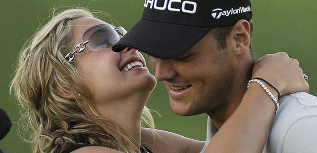 Martin Kaymer and girlfriend Allison Micheletti after he won the 2010 PGA Championship.