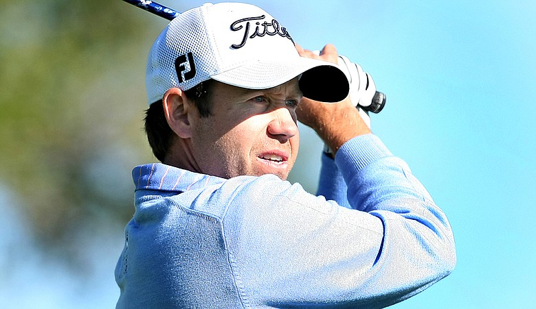 Erik Compton during the first round of PGA Tour Q-School.