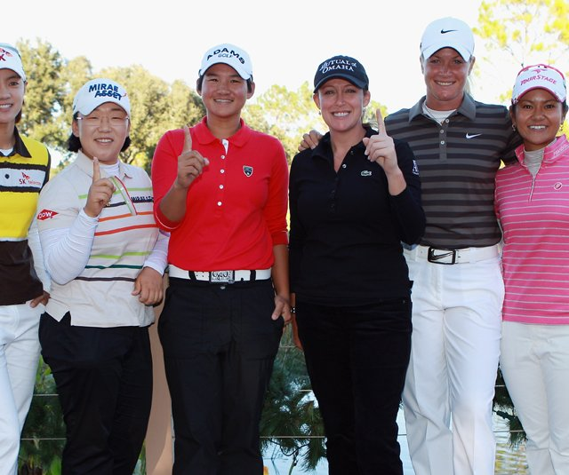 Six players have a shot at ending the season with the No. 1 ranking. From left, Na Yeon Choi, Jiyai Shin, Yani Tseng, Cristie Kerr, Suzann Pettersen and Ai Miyazato.