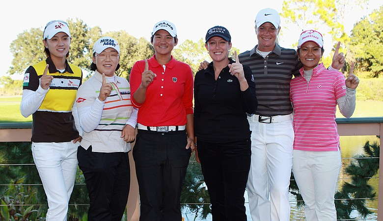 Six players have a shot at ending the season with the No. 1 ranking. From left, Na Yeon Choi, Jiyai Shin, Yani Tseng, Cristie Kerr, Suzann Pettersen and Ai Miyazato.