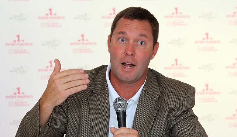 LPGA Commisioner Mike Whan at a press conference prior to the 2010 Evian Masters.