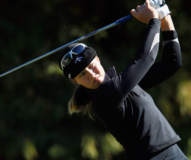 Vicky Hurst during Round 1 of the LPGA Tour Championship. 