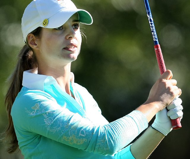 Beatriz Recari during the third round of the 2010 LPGA Tour Championship in Orlando, Fla.