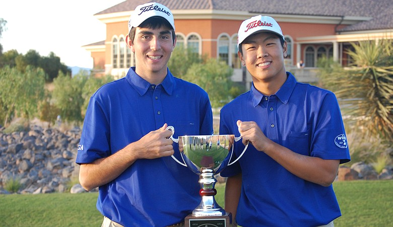 Anthony Paolucci and David Lee after winning the 2010 Winn Junior Cup Challenge.