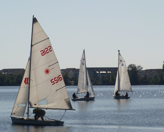 Central Florida Sailing Club students put their sailing skills to use on Lake Baldwin at Winter Park's Fleet Peeples Park.