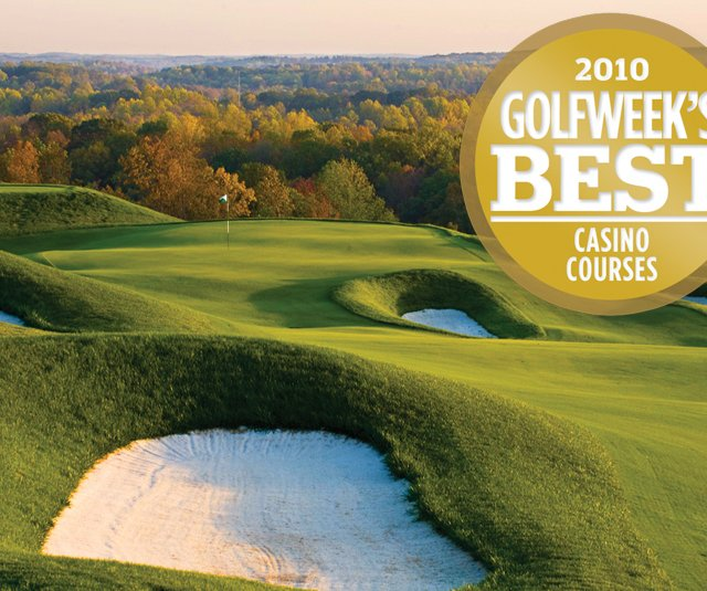 View of the Dye Course at French Lick Resort, ranked No. 5 on the 2010 Golfweek&#39;s Best Casino Course list.