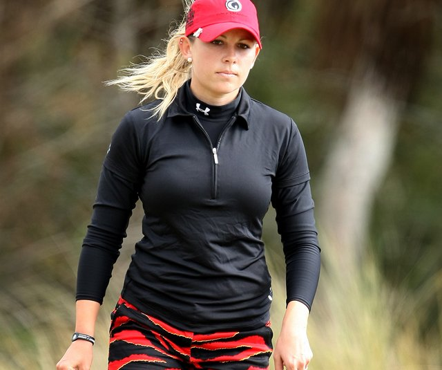 Sara Brown during the final round of LPGA Final Qualifying Tournament at LPGA International in Daytona Beach, FL.