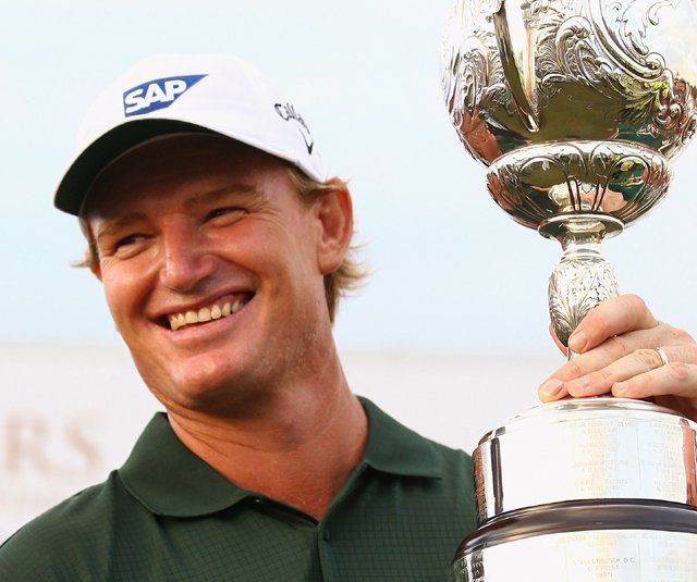 Ernie Els after winning his fifth South African Open title