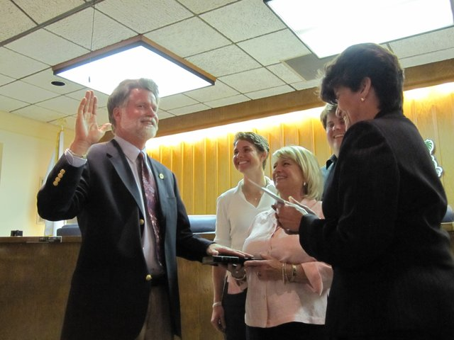 Mayor Howard Schieferdecker was sworn in on Tuesday. He was elected City Council Seat 1 in March 2010, as pictured above.
