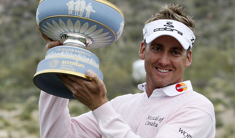 Ian Poulter after winning the 2010 WGC-Accenture World Match Play Championship.