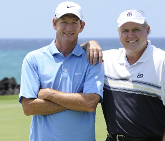 Hank Haney, left, and his newest pupil, Rush Limbaugh. The two will appear in Season 3 of &quot;The Haney Project&quot; on Golf Channel.